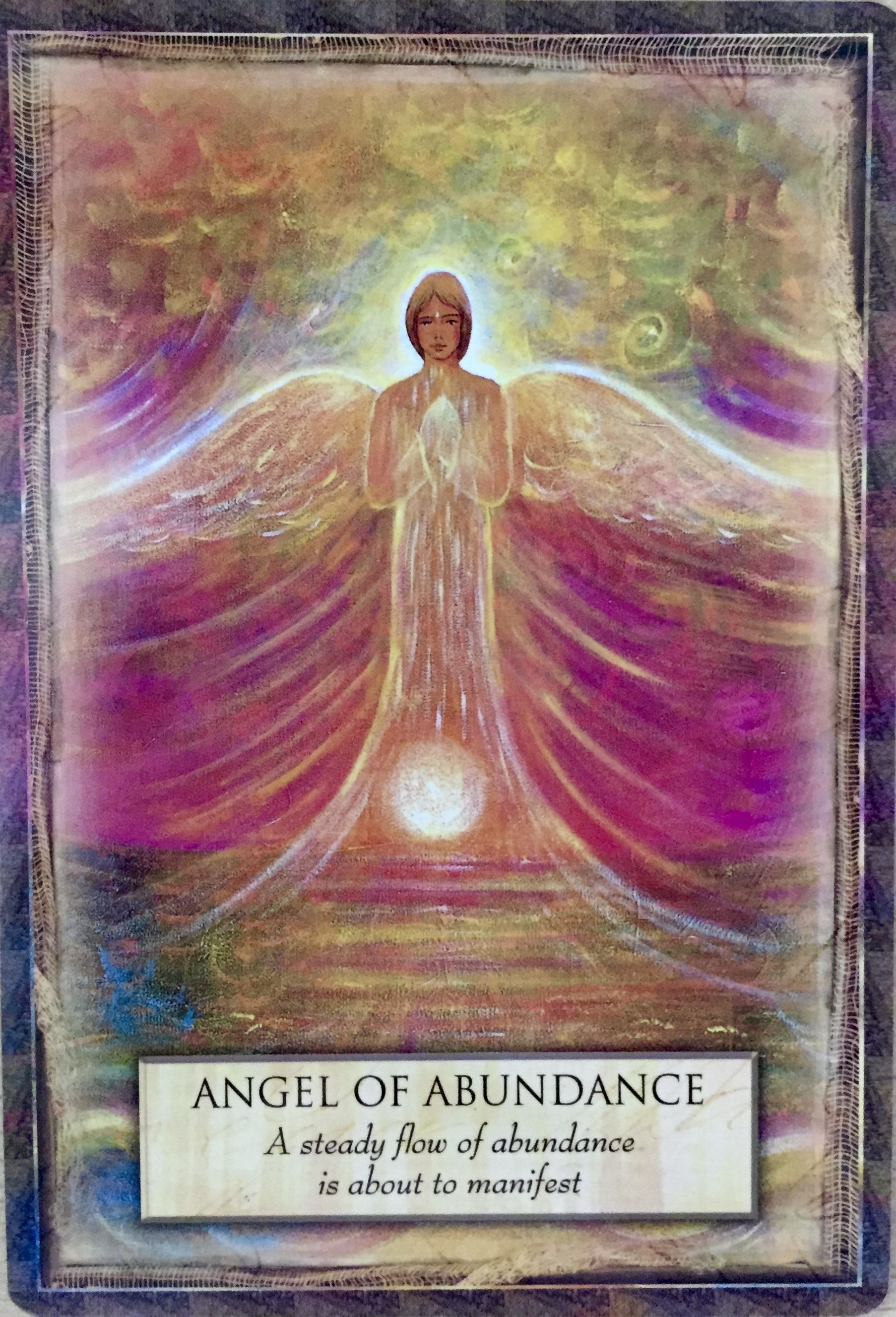Angel of abundance a steady flow of abundance is about to