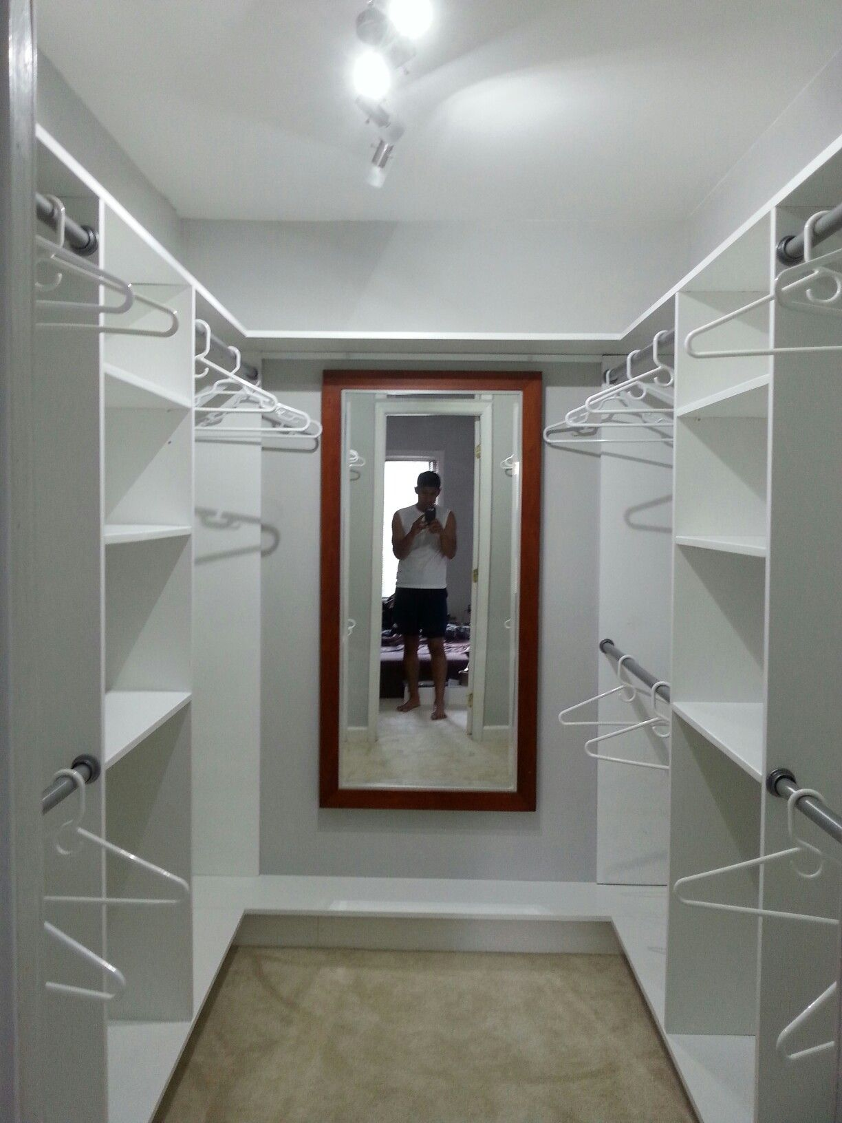 Small And Simple Walk In Closet 8 X6 Closet Layout Closet Remodel Master Bedroom Closets Organization