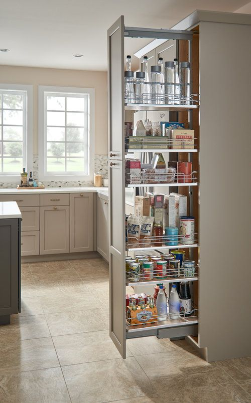 5373 Pullout Pantry With Solid Bottoms Interior Design Kitchen Kitchen Remodel Small Pantry Design