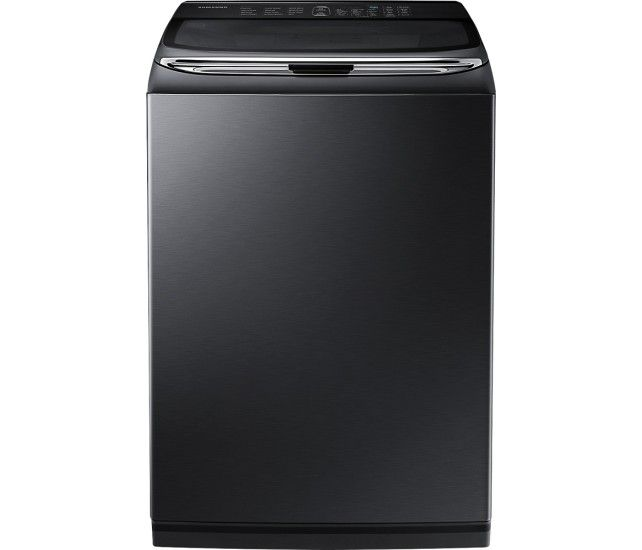Samsung - Activewash 5.0 Cu. Ft. 12-Cycle High-Efficiency Top-Loading Washer - Black Stainless Steel - Front Zoom