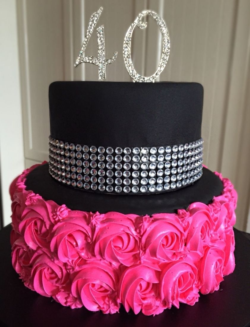 40th birthday cake 40th birthday decorations pink with