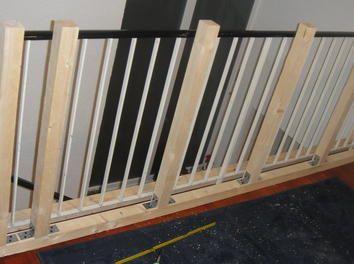 Treppengeländer Verkleiden geländer mit holz verkleiden flur