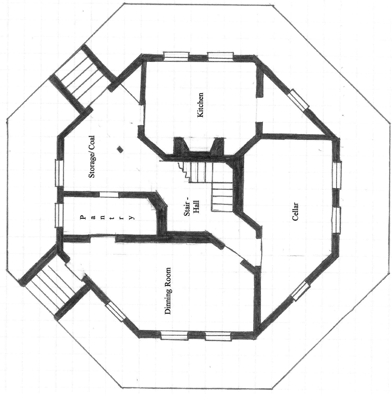 Octagon House Irregular Floor Plan