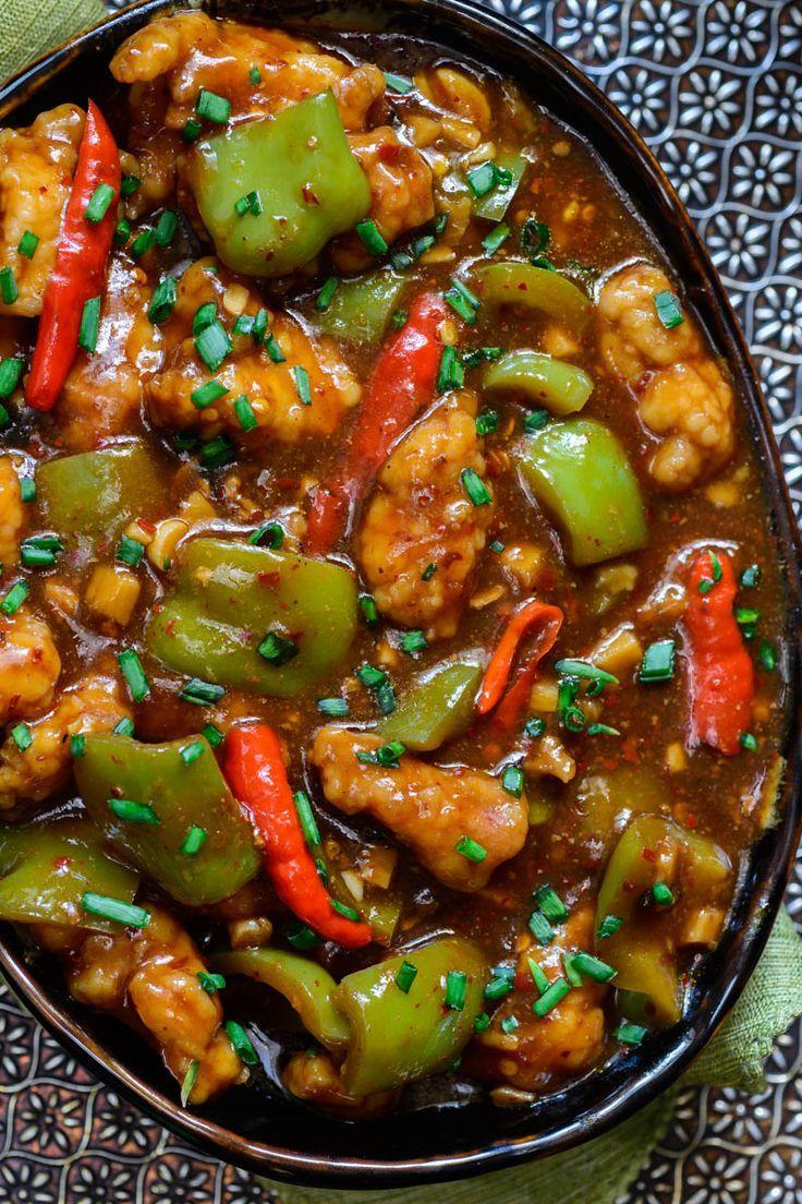 Chilli Garlic Chicken Recipe (Just like your fav Restaurant) - Whiskaffair