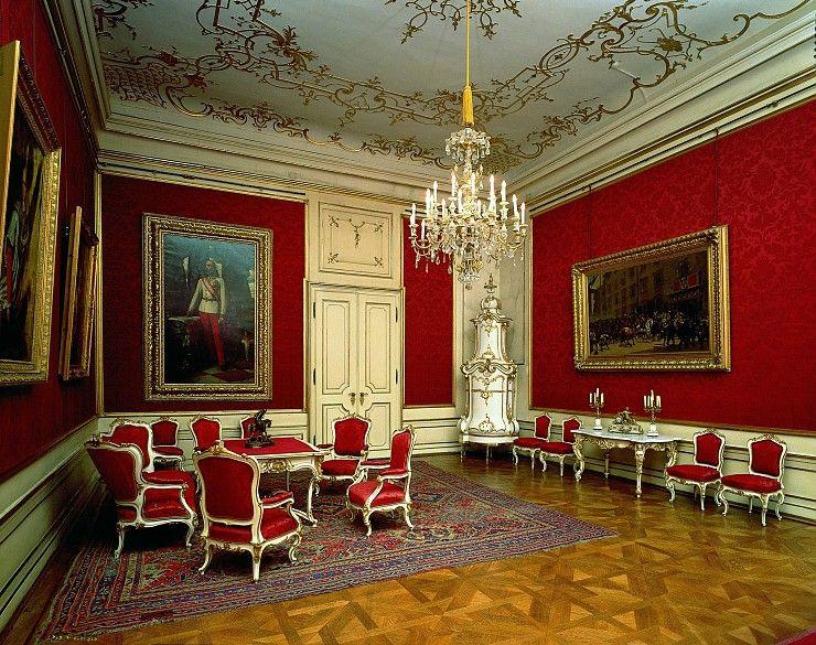 Audienzzimmer Kaiser Franz Josephs in der Wiener Hofburg