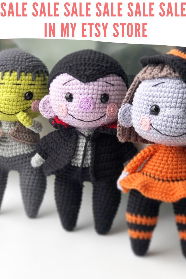 Halloween Crochet 2020 Crochet ENGLISH SET patterns 3 in 1: Frankenstein Witch and | Etsy