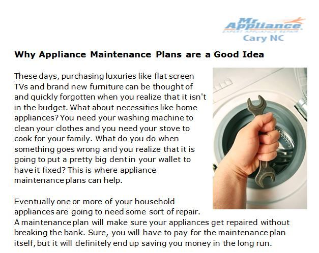 Http Www Slideshare Net Mrappliancecary Why Appliance Maintenance Plans Are A Good Idea What Appliance Repair Appliance Maintenance Repair And Maintenance