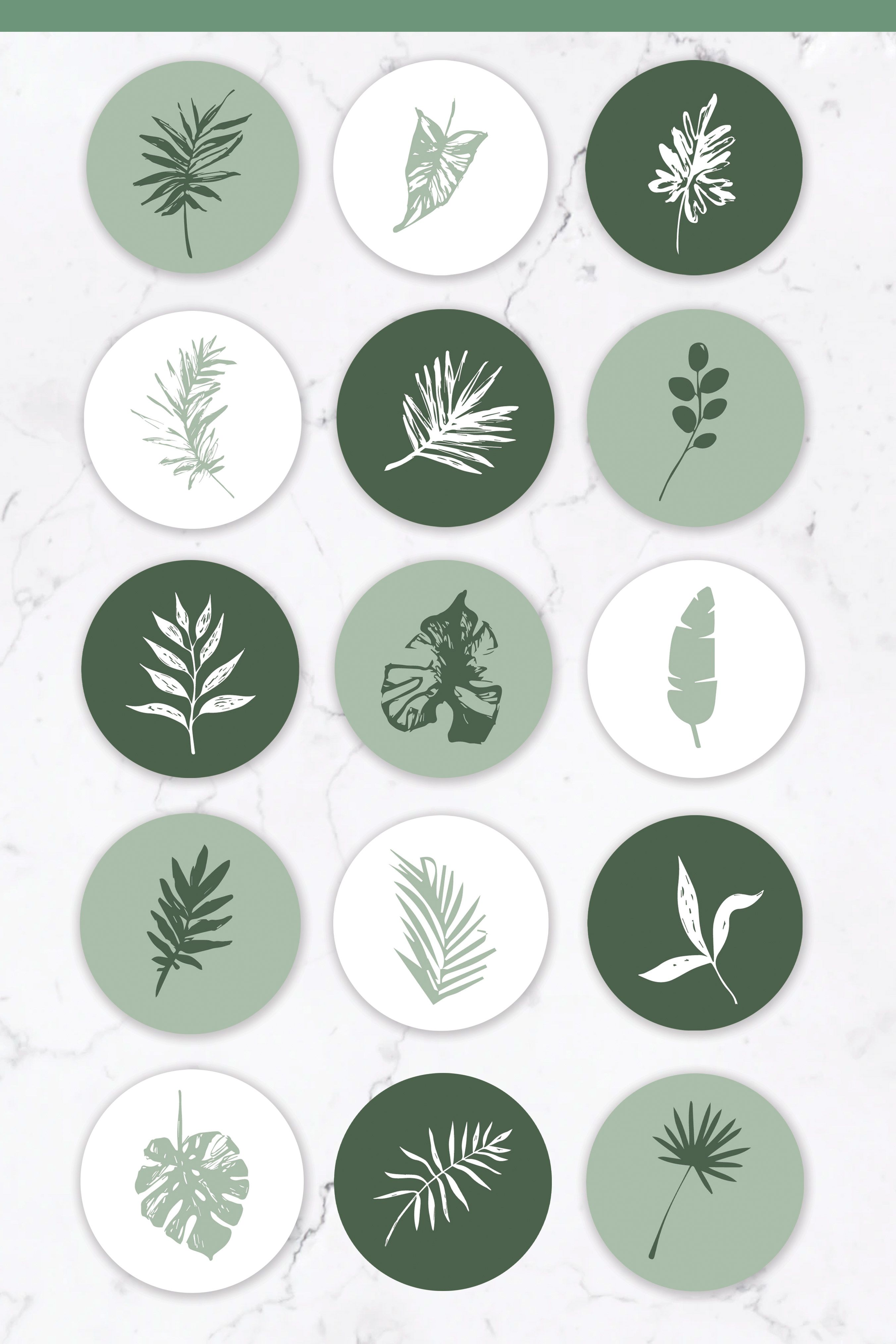 Instagram Highlight Covers - 15 Botanical Instagra