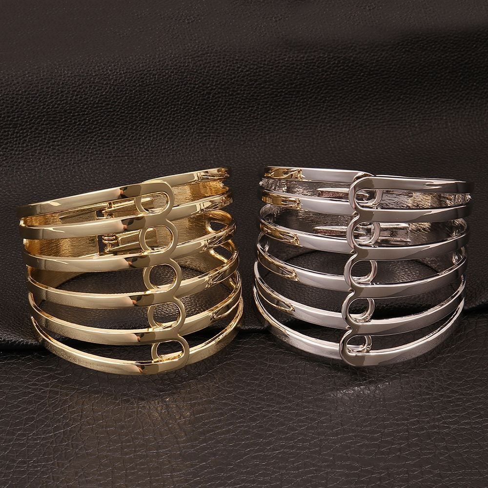 Show details for Bracelets Women Trendy Geometry Gold Plated Platinum Plated Metal