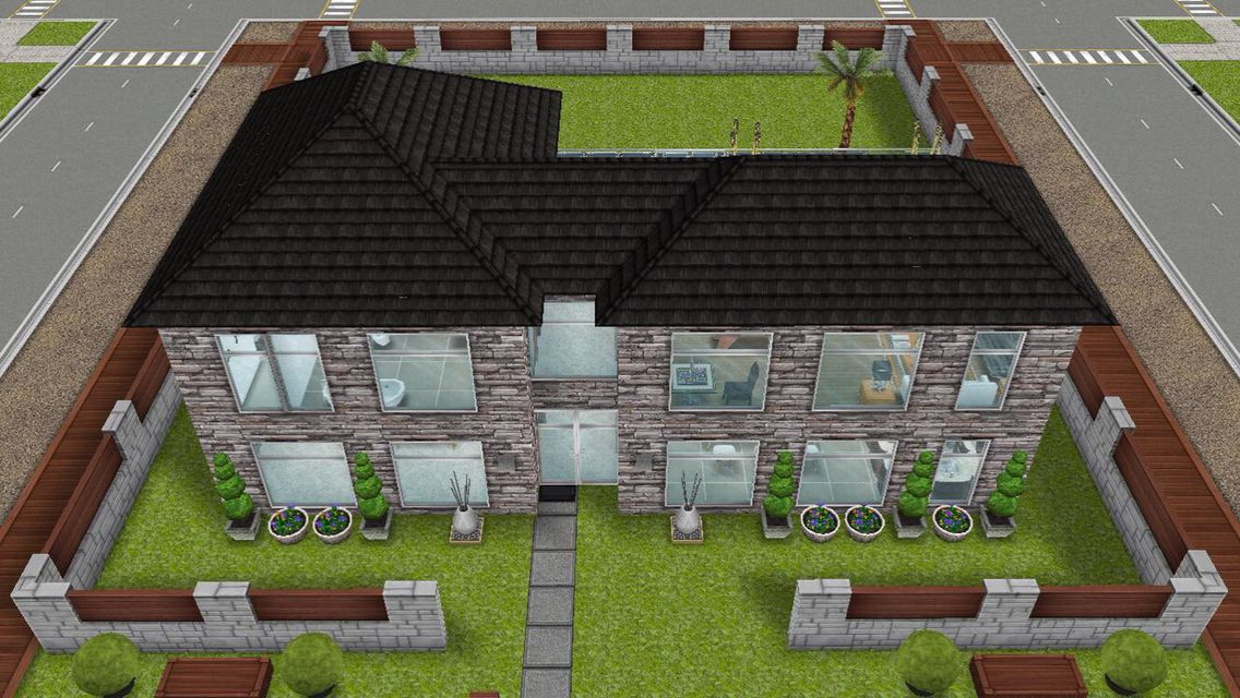 Front exterior view of a house for a Single male redesign of