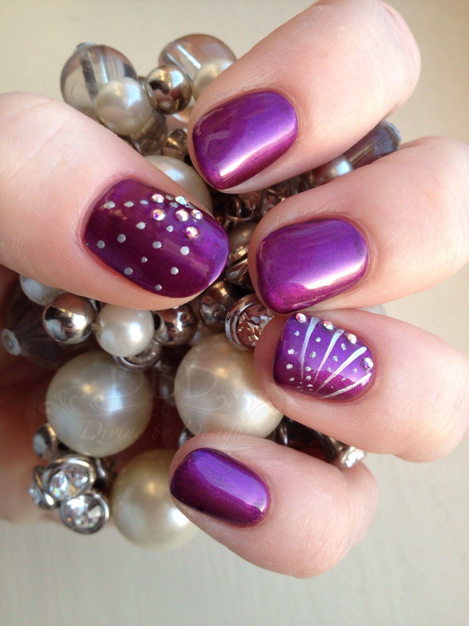 CND Shellac with Additives, CND Colour nail art and Swarovski Crystals xDBDx www.Facebook.com/DivineByDesignBeauty