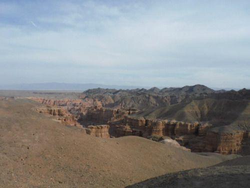 Charyn Canyon in Southeast Kazakhstan. A beautiful place! [OC]...