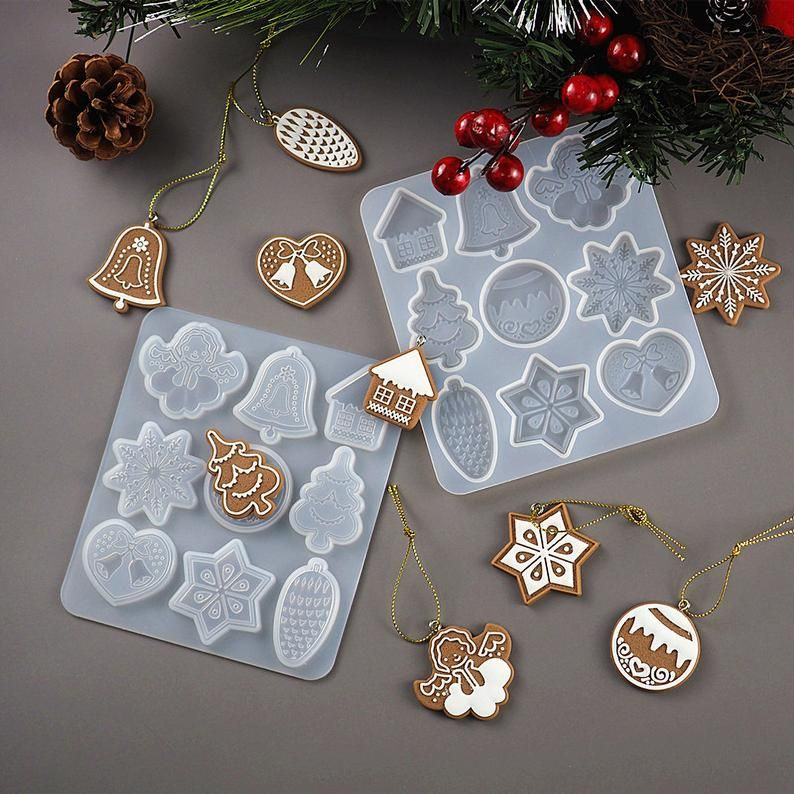 Resin Casting Mould Silicone Snowflake Christmas Pendant Jewelry Epoxy Mold Tool