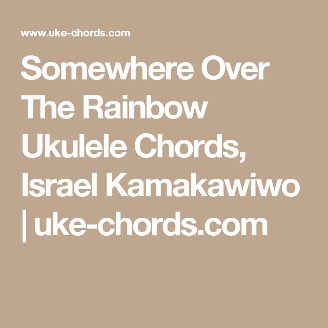 Somewhere Over The Rainbow Ukulele Chords Israel Kamakawiwo Uke