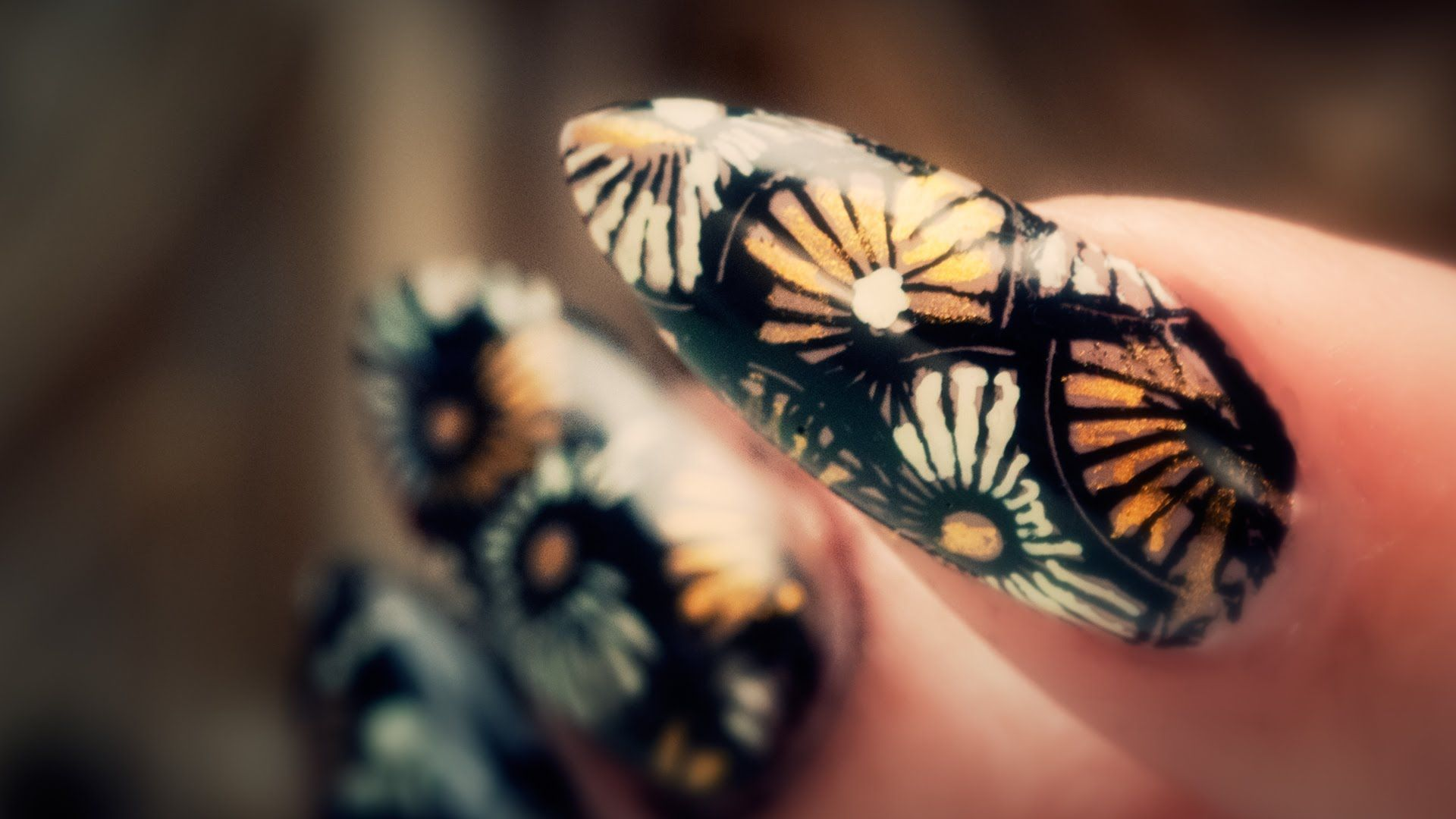 Steam Punk Nail Art Stamping And Calligraphy Pen Pinterest