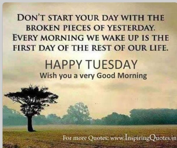 Very Great Quotes: Happy Tuesday, Wish You A Very Good Morning