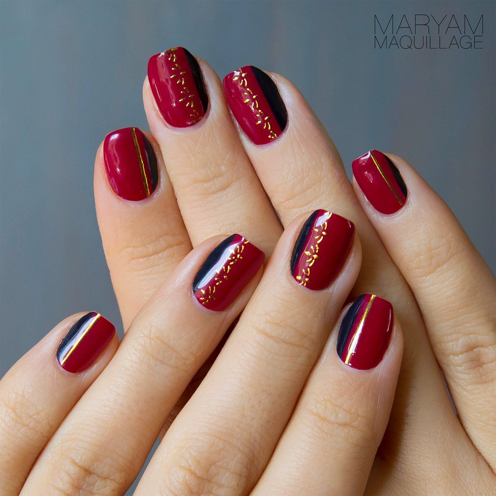 Gorgeous red nail art designs nails red pinterest red gorgeous red nail art designs prinsesfo Image collections