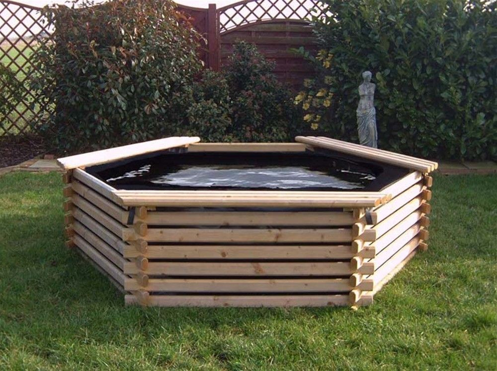 300 Gallon Raised Pool With Without Pump With Images Raised Pond Pond Kits Garden Pool