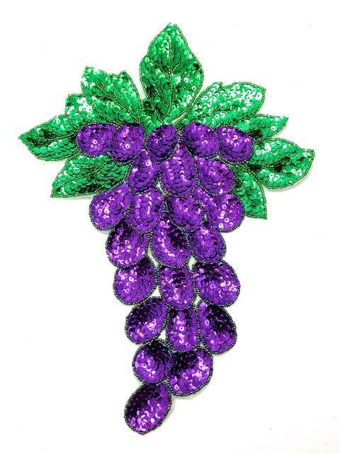 Appliques de raisins paillettes perlé 125 par BestSequinAppliques