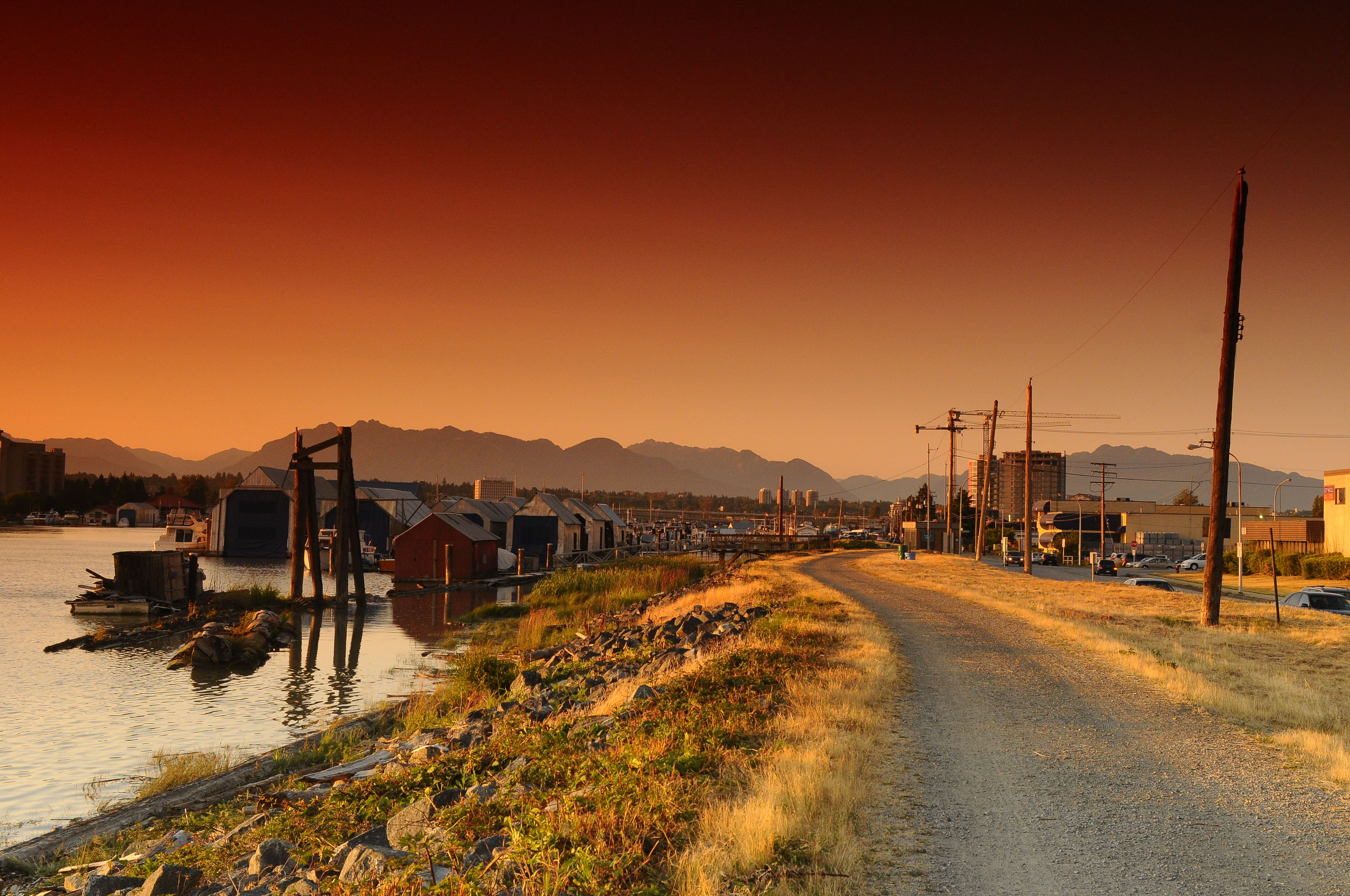 Looking down River Road VisitRichmondBC WhyHB (With