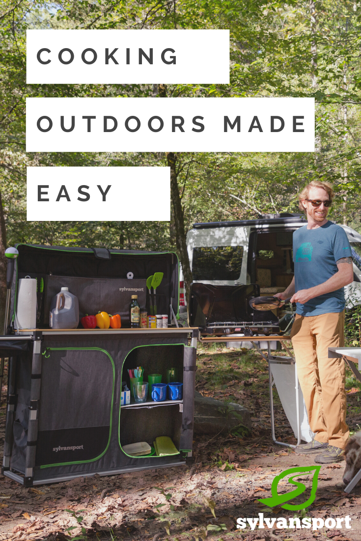 Over Easy Camp Kitchen Ultimate Portable Outdoor Kitchen Camp Easy Kitchen Outdoor Portable Ulti In 2020 Camping Kitchen Set Up Camping Kitchen Set Camp Kitchen