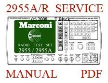 marconi 2955 radio test set service user manual and schematics rh pinterest co uk John Deere 2955 Parts 2955 AC Connector