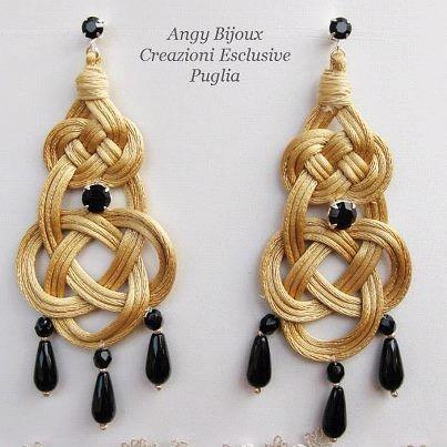 Ringrazio ANGELA PINTAURO, stilista e designer dell'azienda ANGY BIJOUX - Puglia,  per avermi regalato questi bellissimi orecchini modello Giara, insieme ad un altro paio di orecchini modello Iris, pelle e seta. Grazie Angela :)