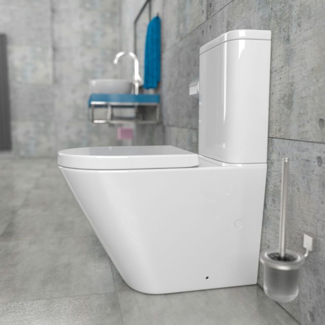 randlos design stand wc kombination inkl sp lkasten und wc sitz kb6093b bad g ste wc. Black Bedroom Furniture Sets. Home Design Ideas