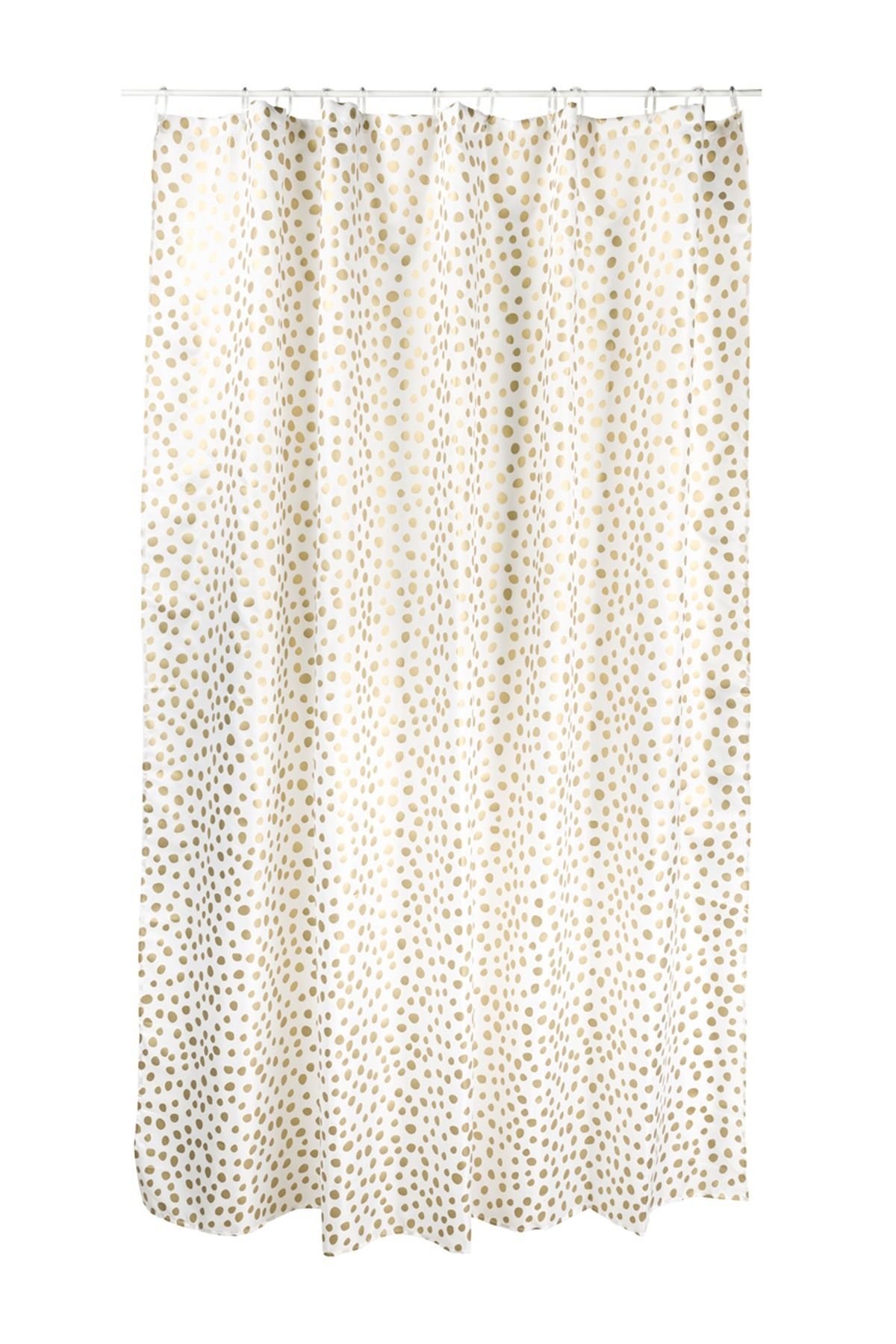 White/Gold Storm Shower Curtain | Bathroom Reno (Guest) | Pinterest ...