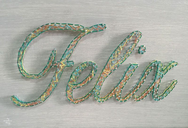 How to make an cool string wall art as a diy birthday gift using a how to make an cool string wall art as a diy birthday gift using a piece negle Image collections