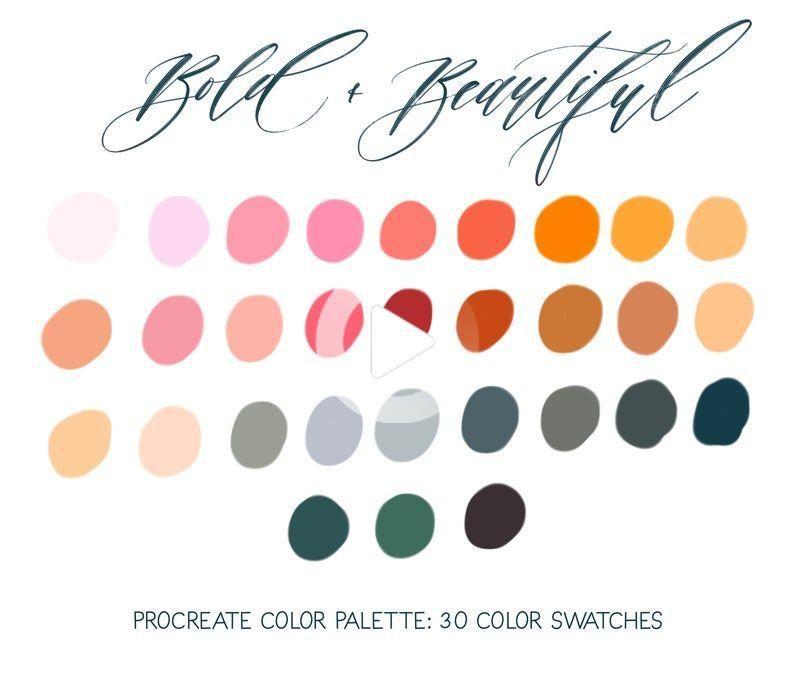 Fall Moods Autumn Fall Colors Procreate Color Palette Procreate Swatches Color Palette Bright Muted Color Palette Color Palette