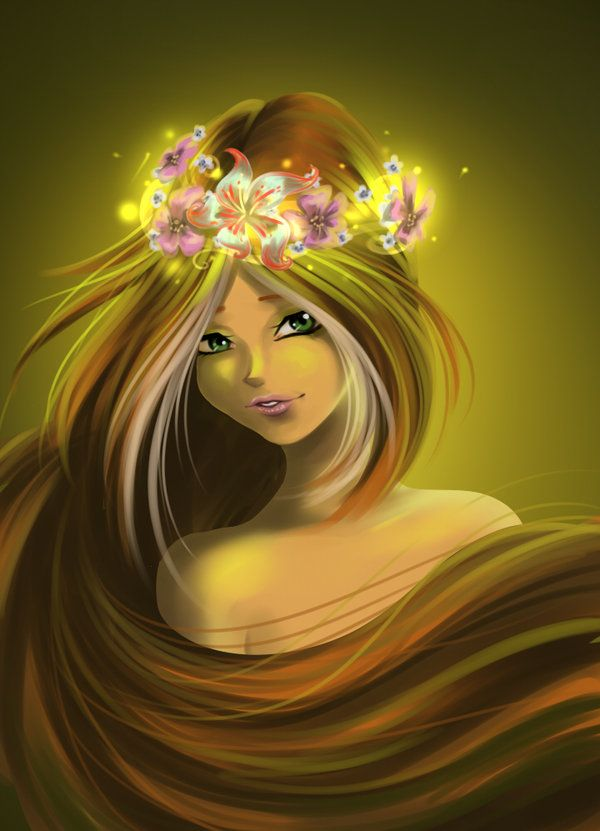 Flora With Crown Of Flowers By Fantazyme On Deviantart