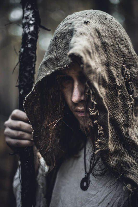 Hidden beneath a hood.