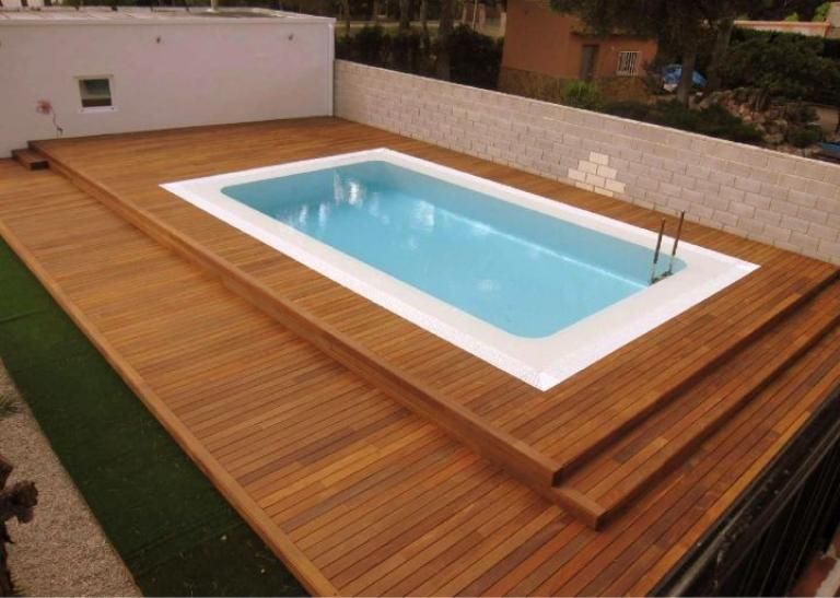 Best Contemporary Swimming Pool Wooden Deck Design Ideas Pool Decks Pools Backyard Inground Above Ground Pool
