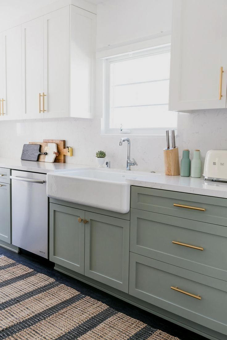 Kitchen Design In 2020 Home Decor Kitchen White Kitchen Design Green Kitchen Cabinets