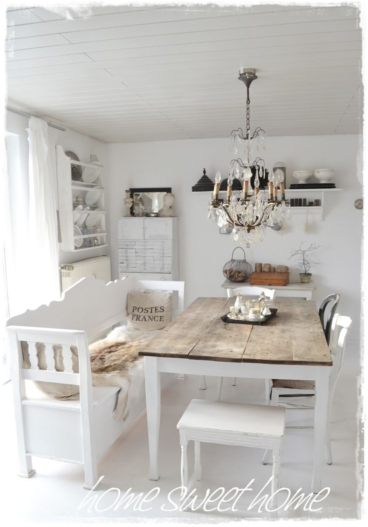 Dining In White The Classy Chic And Happy Look Cottage Pleasing Shabby Dining Room Design Decoration