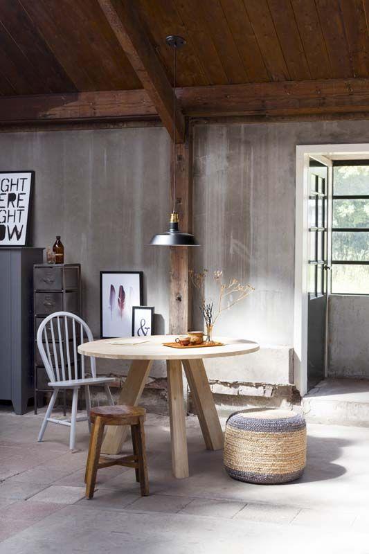 Stevige stoere meubelen in eerlijke materialen wooninspiratie woonkamer karwei karwei - Deco van woonkamer eetkamer ...