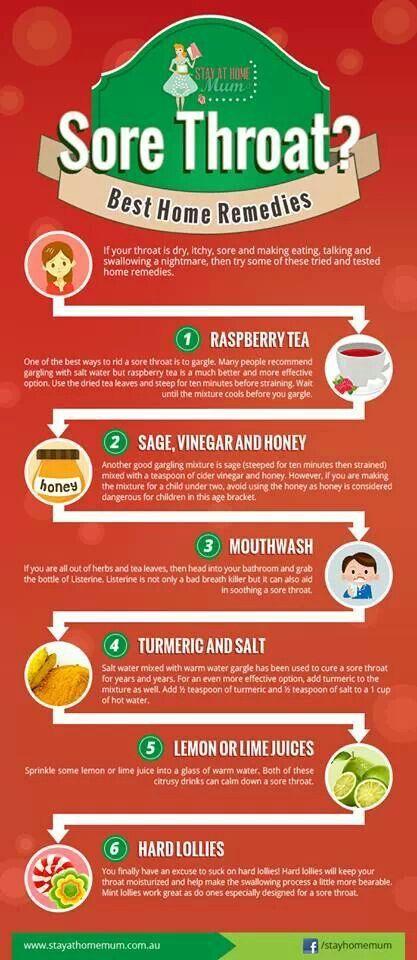 Homemade remedy for severe sore throat