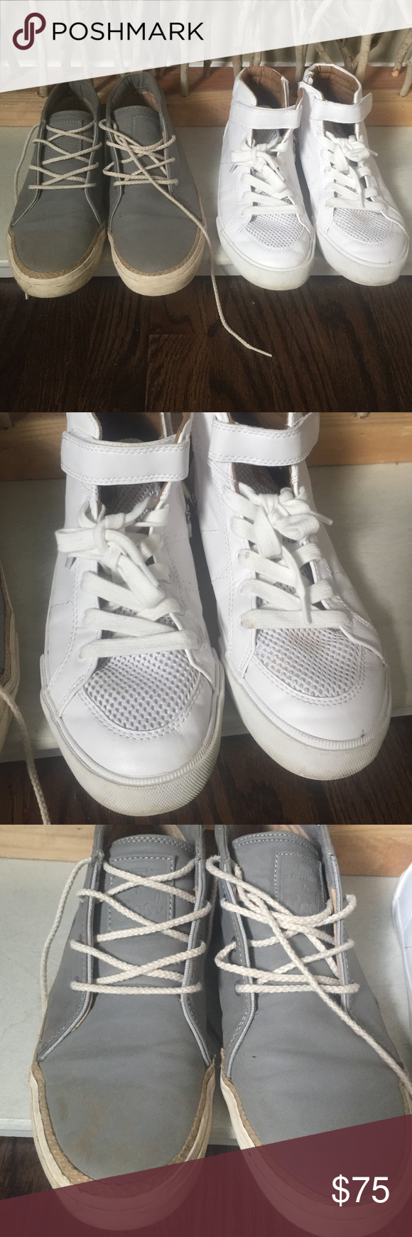 Host pick 2 pairs of zara big boy sneakers zara shoes shoes 2 pairs zara big boy sneakers both size check zara conversion chart for us sizeice is for both see all pics closely for condition please zara shoes nvjuhfo Images