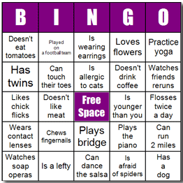 Fun way to start a PTO meeting: Ice breaker Bingo- Mingo ...