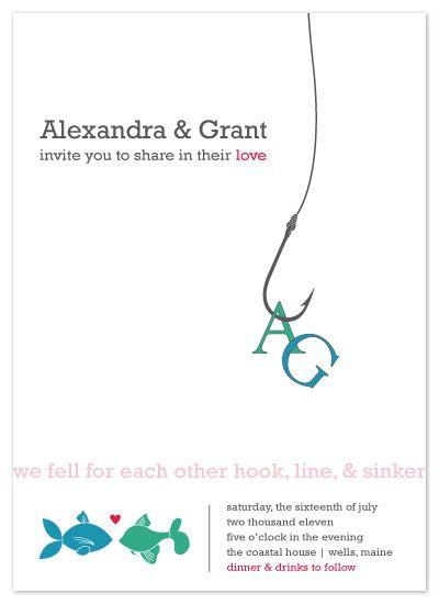 Hook Line Sinker By Amanda Michaud Invitations Wedding Fishing