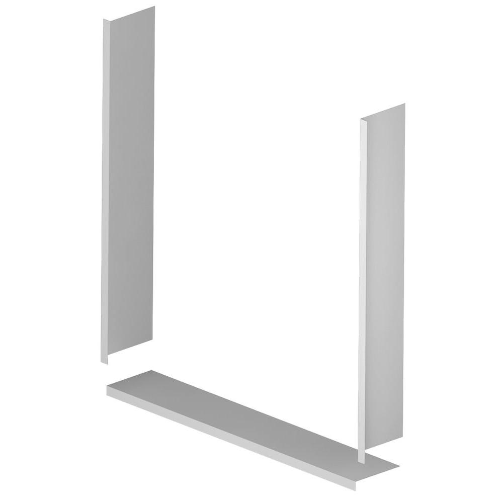 Asb 36 In X 36 In Window Trim Kit In White 1trim03a The Home Depot In 2020 Vinyl Window Trim Window Trim Window In Shower
