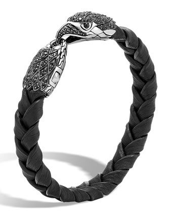 John Hardy Mens Legends Woven Leather Bracelet TCzohXSSn