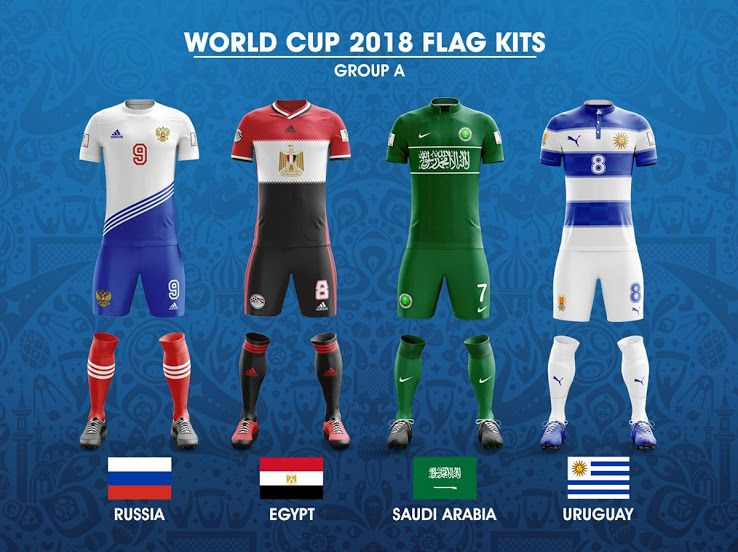 32 Stunning World Cup Flag Kit Concepts Revealed With Images World Cup World Football Soccer Kits