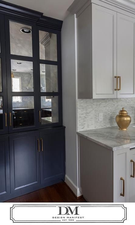 Pale Grey Kitchen Cabinets with Gold Hardware ...