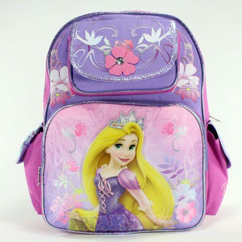 9ef9f86df91 Disney Tangled Princess Rapunzel Flower 16 Large Backpack Girls School Book  Bag