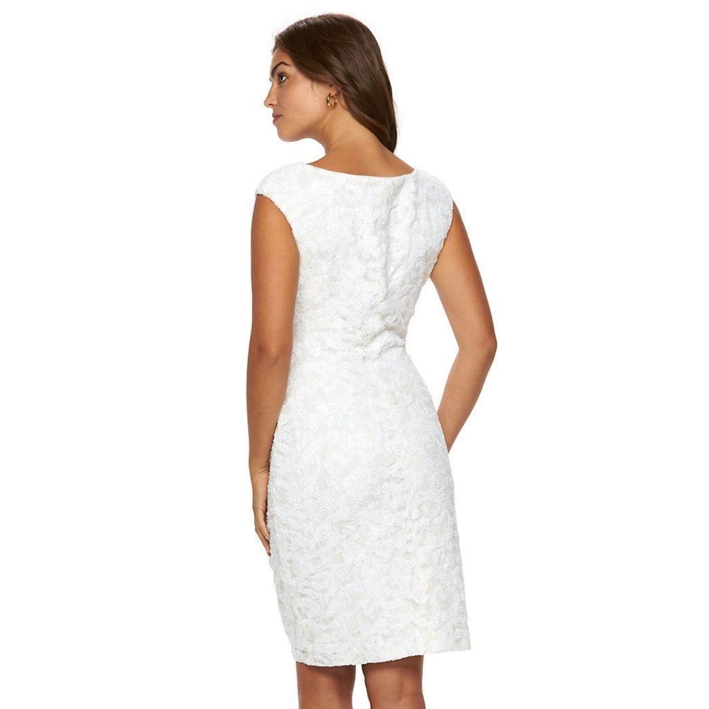 d262d000d94 Women s Chaps Lace Sequin Sheath Evening Dress