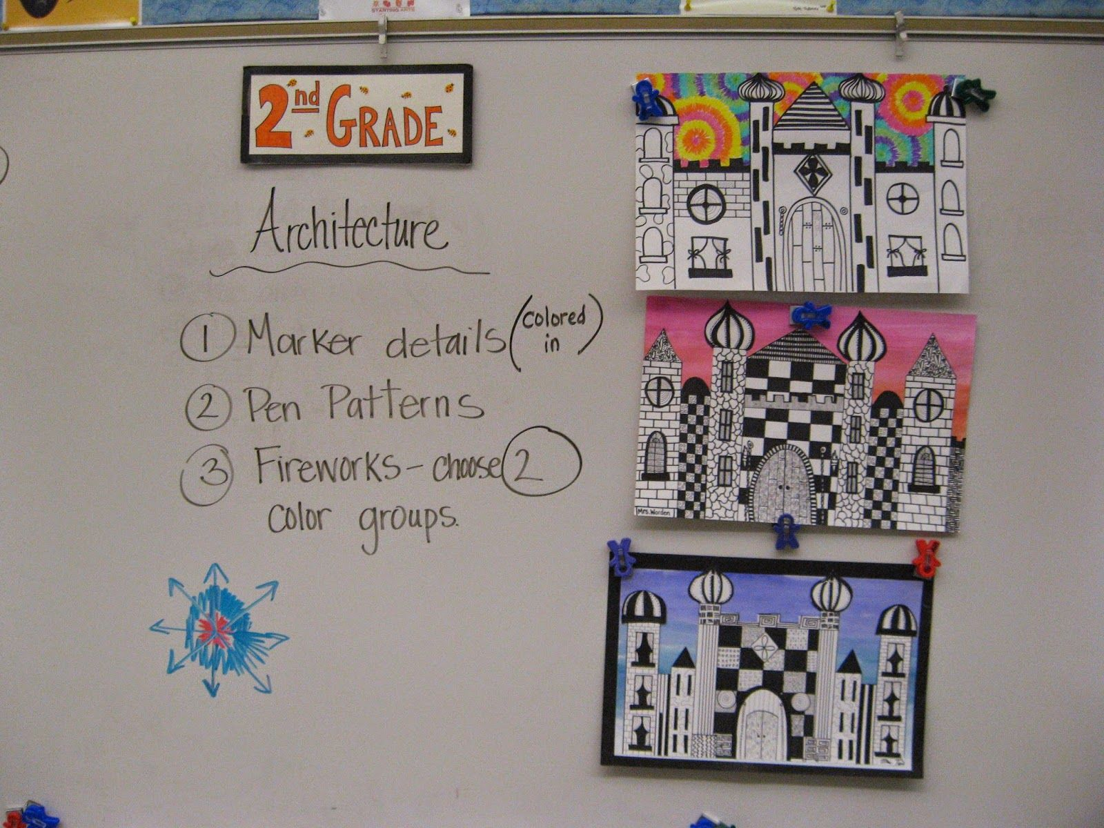 2nd Grade Castle Architecture (Jamestown Elementary Art Blog)