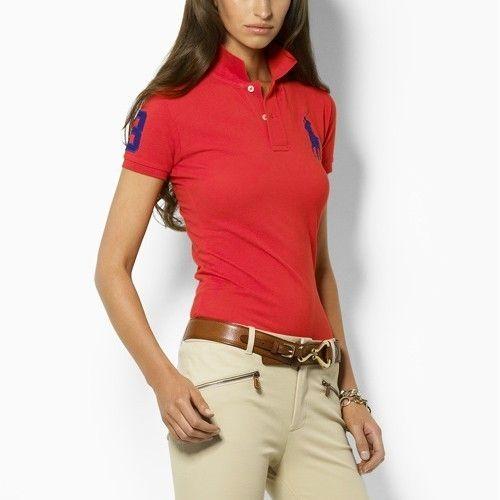 Polo Ralph Lauren Women's Big Pony Polo Red [clo-790183n] - $63.58 .