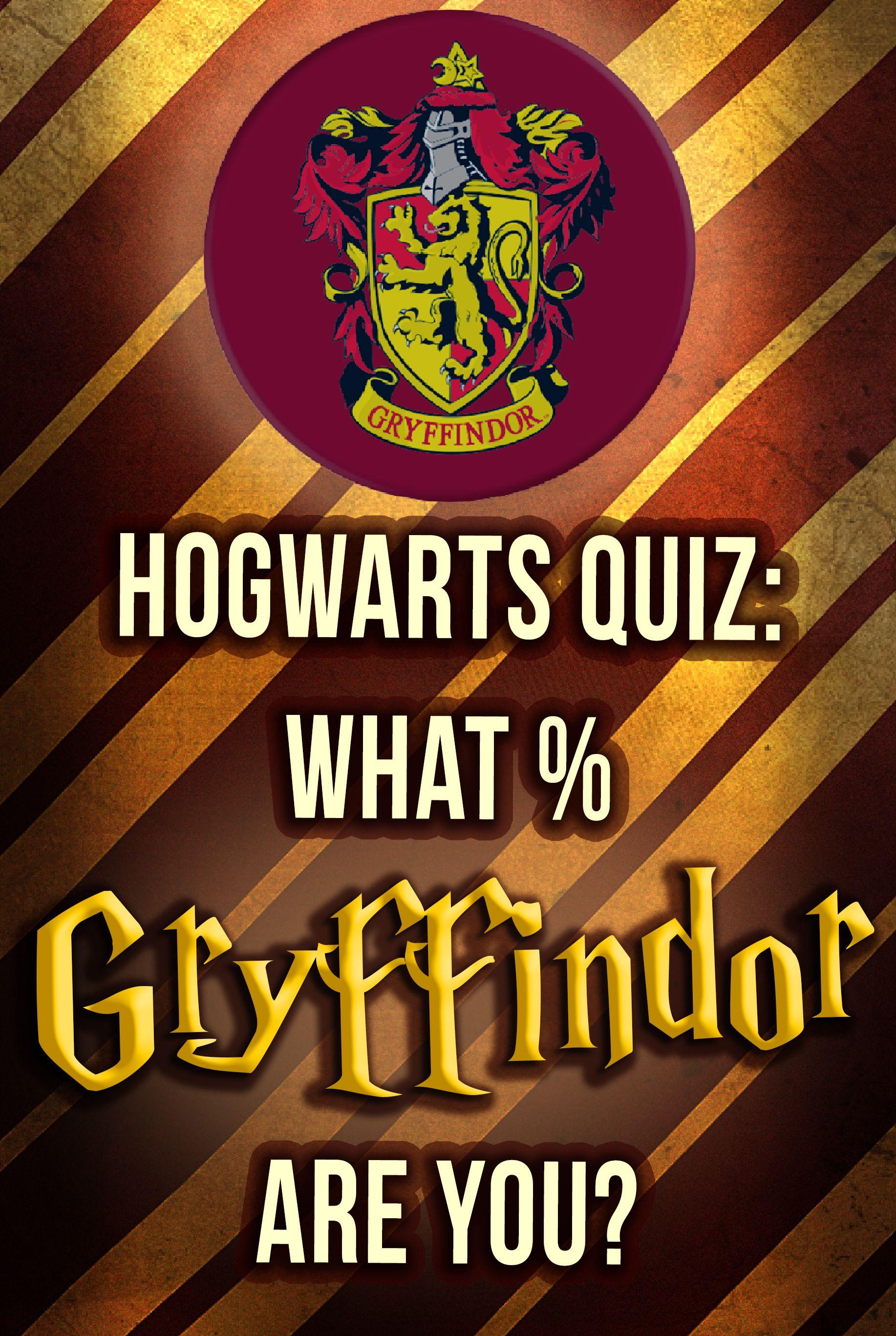 Hogwarts Quiz What Gryffindor Are You